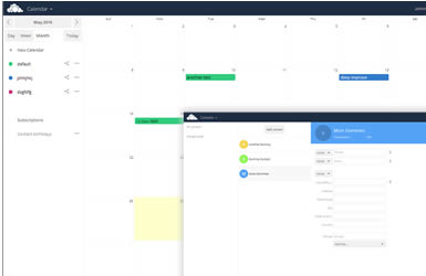 owncloud hosting - calendar and contacts